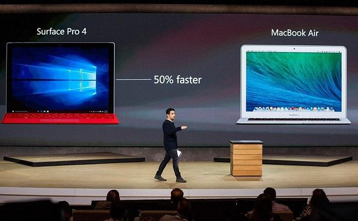 مک بوک پرو اپل باعث افزایش فروش سرفیس پرو مایکروسافت شد!
