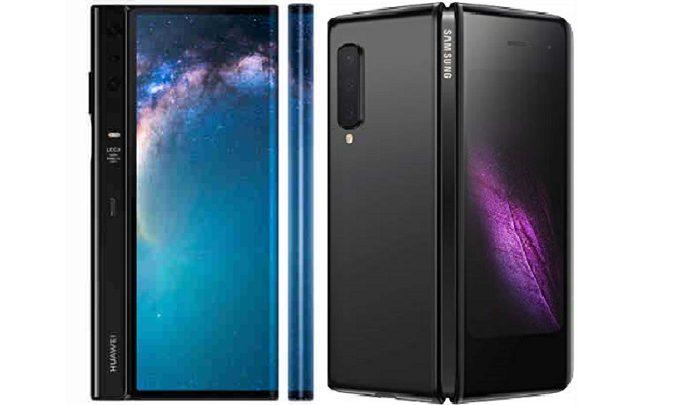 مقایسه گوشی موبایل Samsung Galaxy Fold با Huawei Mate X